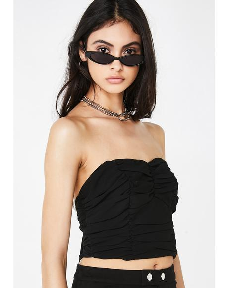 Up Against Me Bandeau Top
