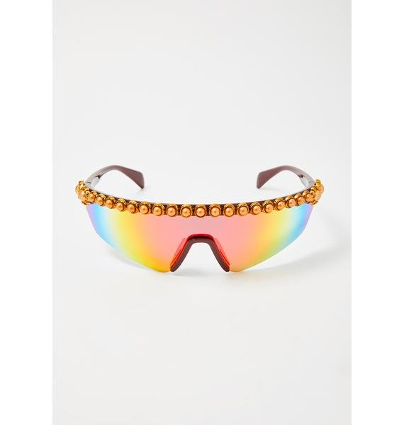 Ride This Wave Shield Sunglasses