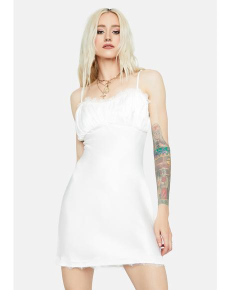 Dreaming Of Tomorrow Ruched Slip Dress