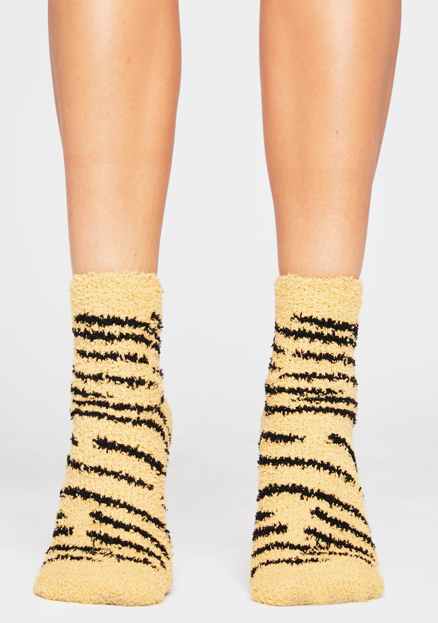 Just Grazin Fuzzy Ankle Socks