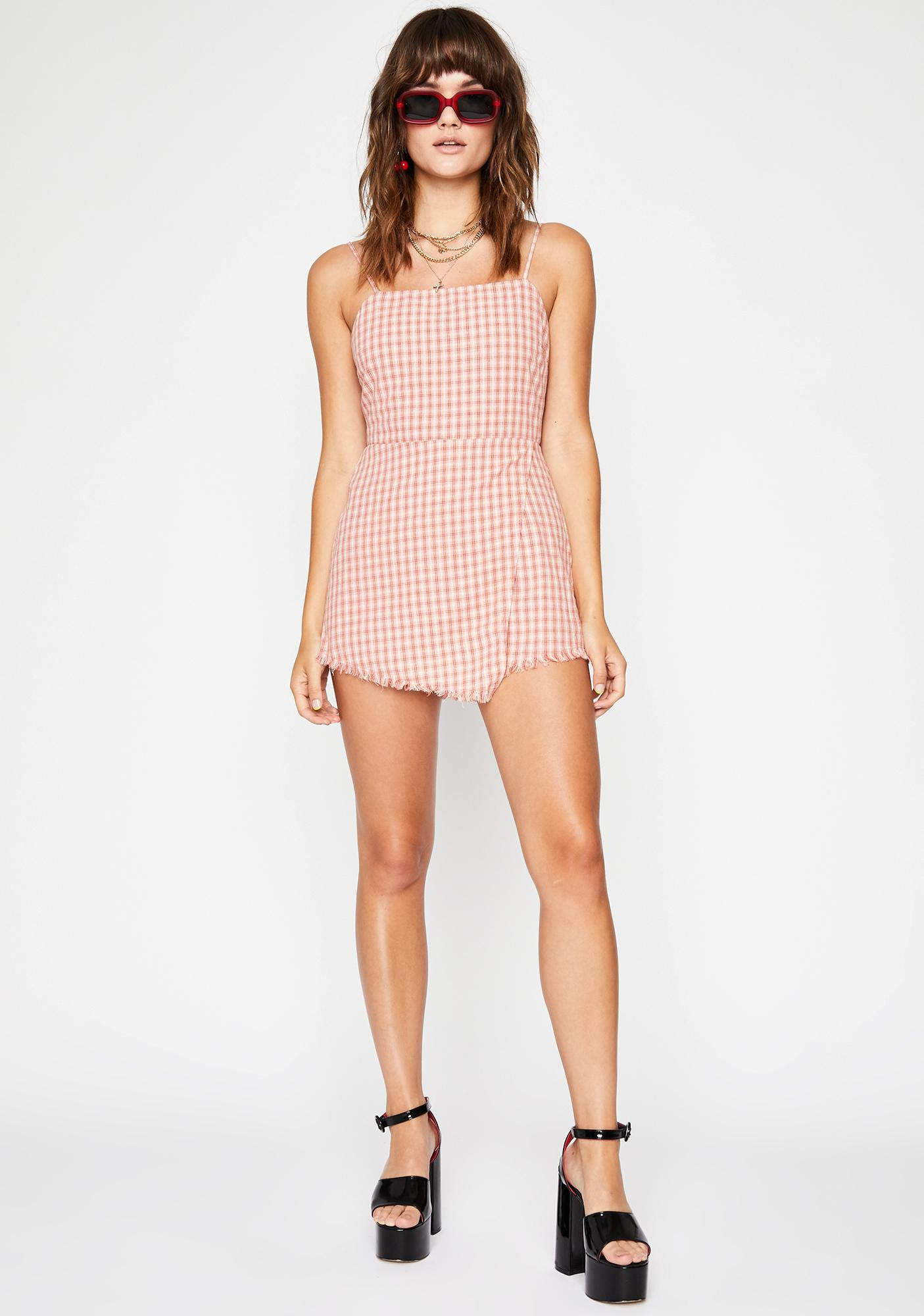 Pretty Adorable Trouble Gingham Romper