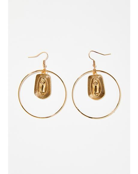 Pray For Mercy Hoop Earrings