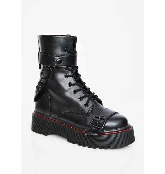 Current Mood Madhouse Buckle Boots