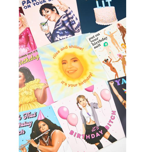 Central 23 Let's Get Lit Birthday Card