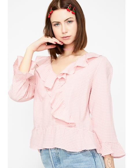 Somethin' Sweet Gingham Top