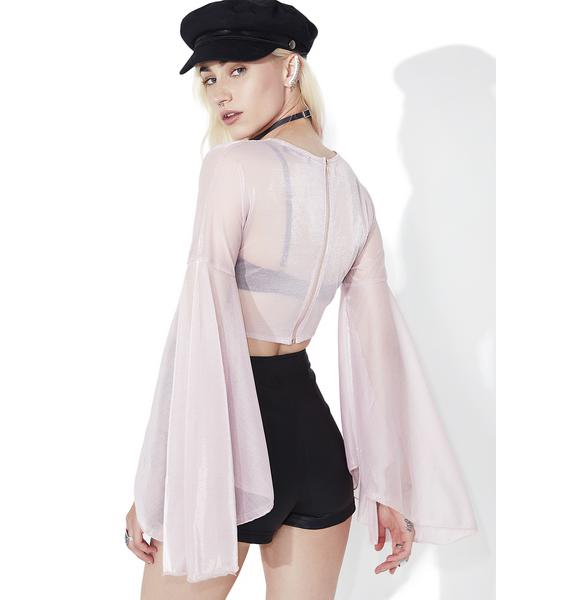 As I Am  Leia Bell Sleeve Top