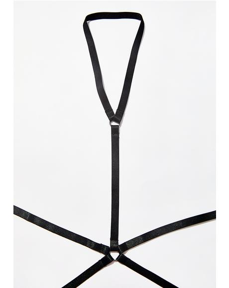 Caught Staring Choker Harness