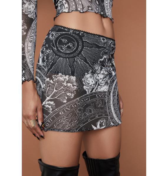 HOROSCOPEZ On The Rise Mesh Mini Skirt