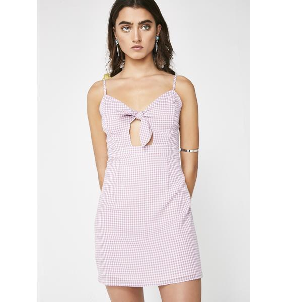 Wish Em' Well Gingham Dress
