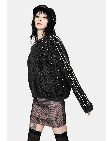Pearl Love Baggy Knit Sweater