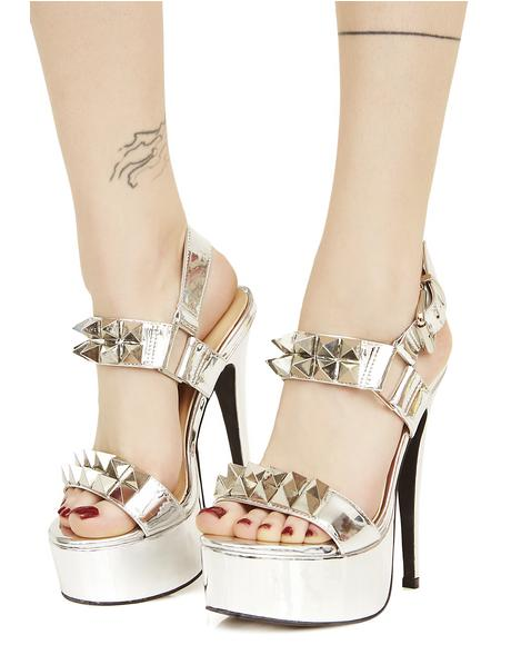 Queen Pin Studded Heels