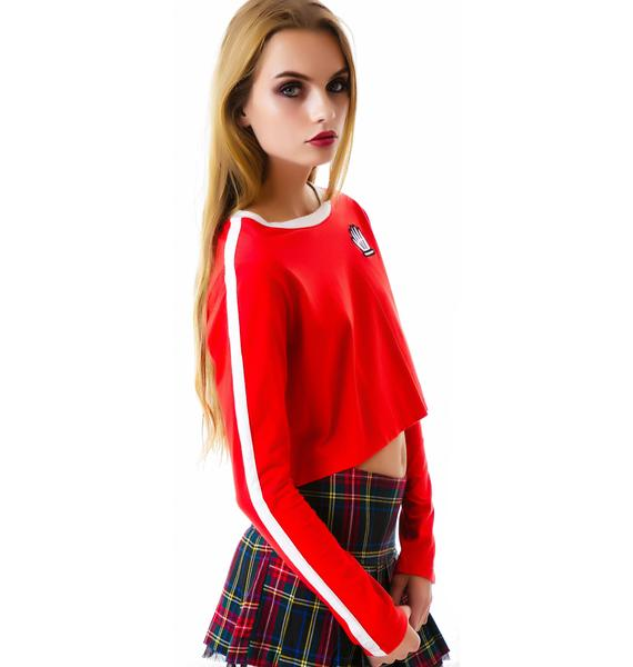 Lazy Oaf Seeing Red Long Sleeve Top
