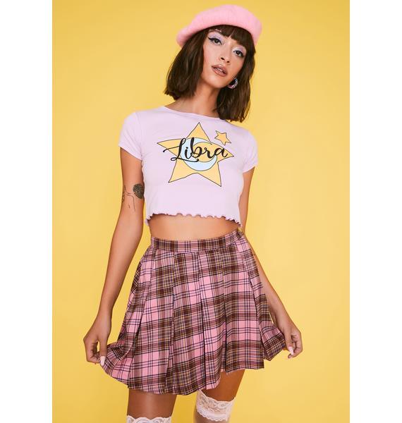 HOROSCOPEZ Teacher's Pet Plaid Skirt