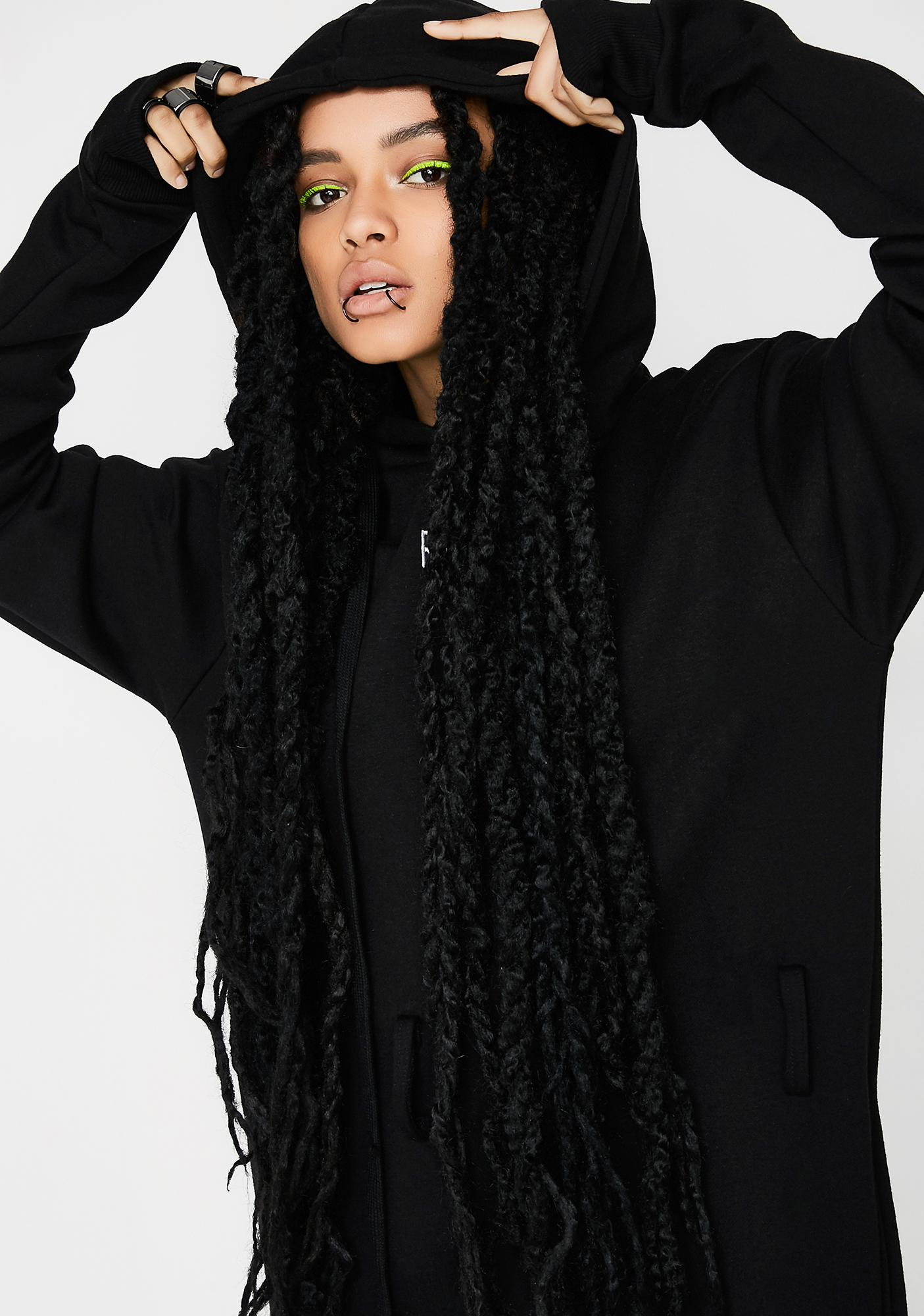 Demian Renucci Oversized Hoody Dress