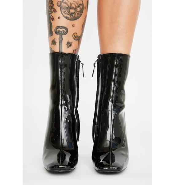 AZALEA WANG Brigitte Patent Boots