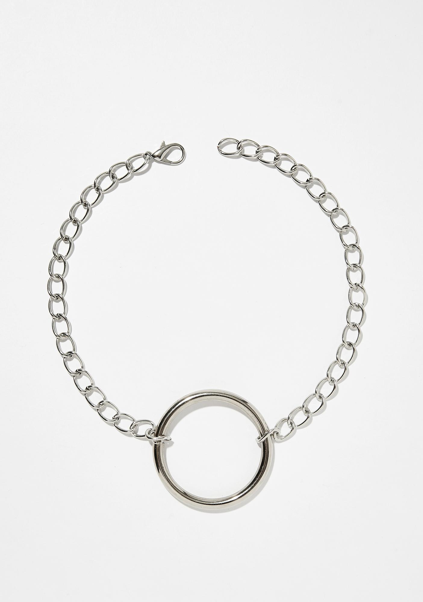Shop Biohazard Large Chain O-Ring Choker