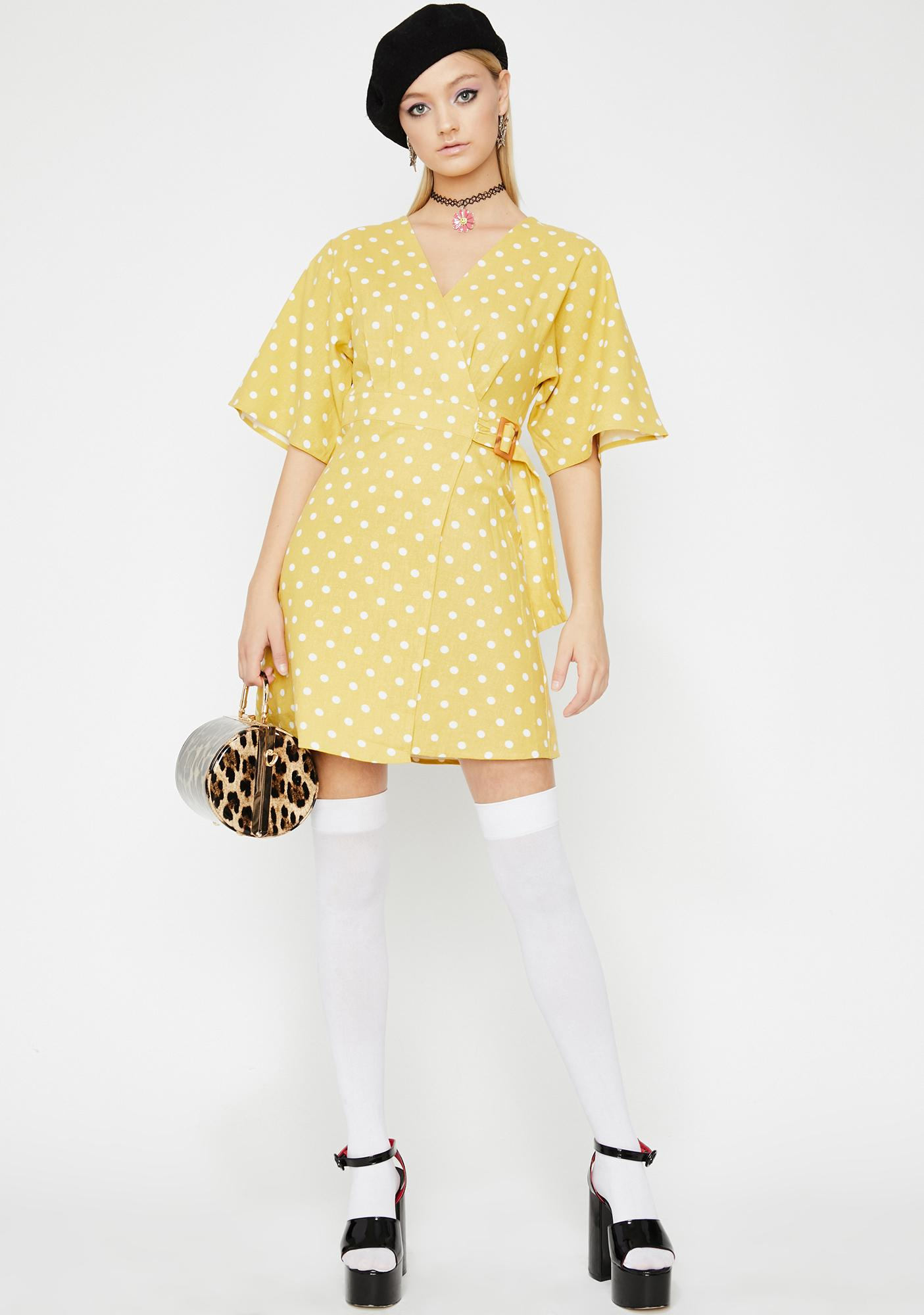 Serene Paradise Polka Dot Dress