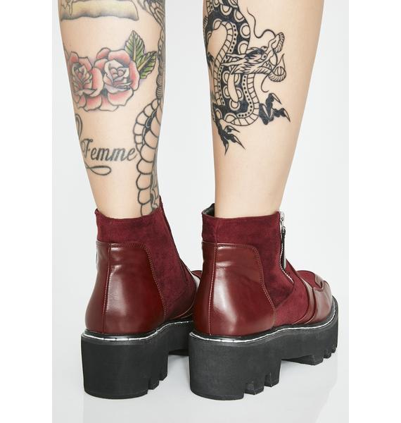 Lamoda Wine Design Chunky Ankle Boots