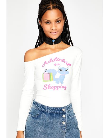 A Total Shopaholic Graphic Tee