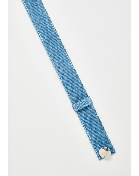 Wild Type Denim Choker
