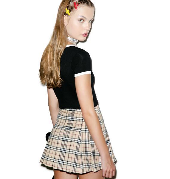 O Mighty Not So Plaid Tennis Skirt