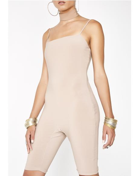 Mocha So Devious Tank Jumpsuit