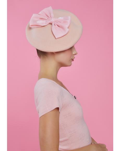 Blush Hillside Princess Bow Beret