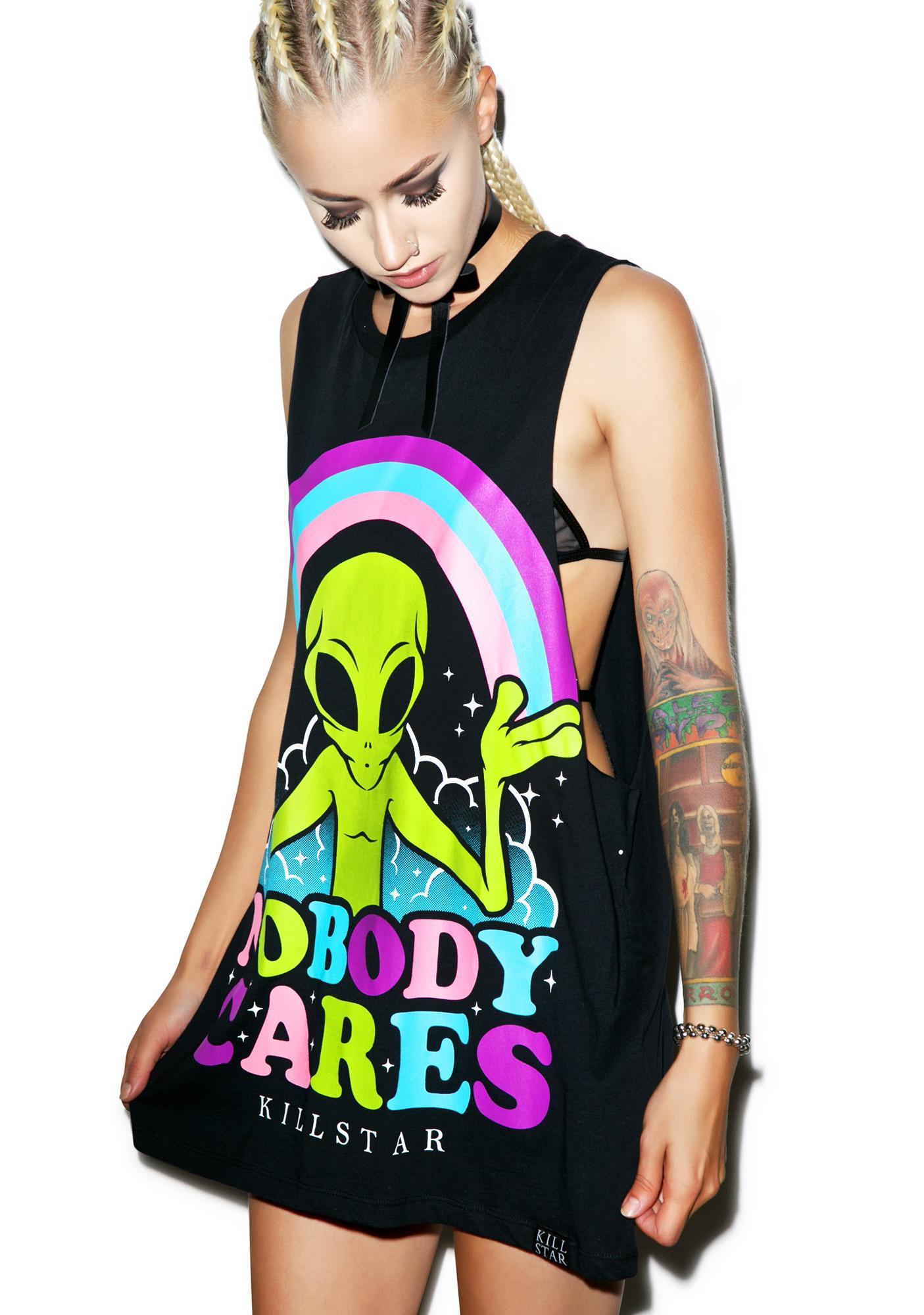 Killstar Nobody Cares Muscle Tank