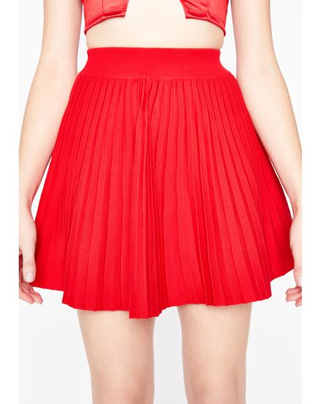 Hot Reckless Reign Pleated Skirt