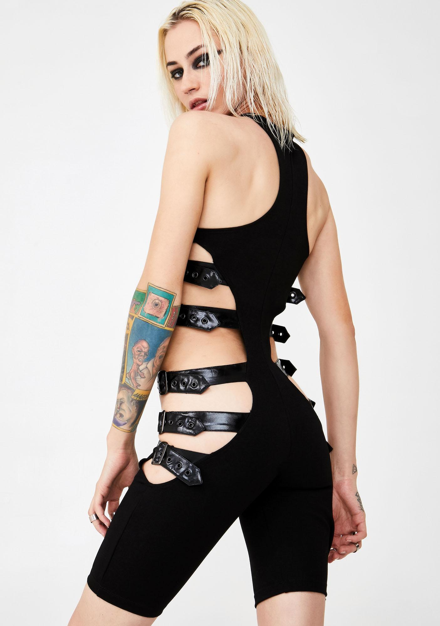 Club Exx Fury Road Buckled Romper