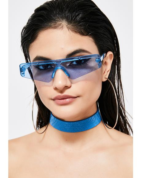 Cobalt Selfie Specs Sunglasses