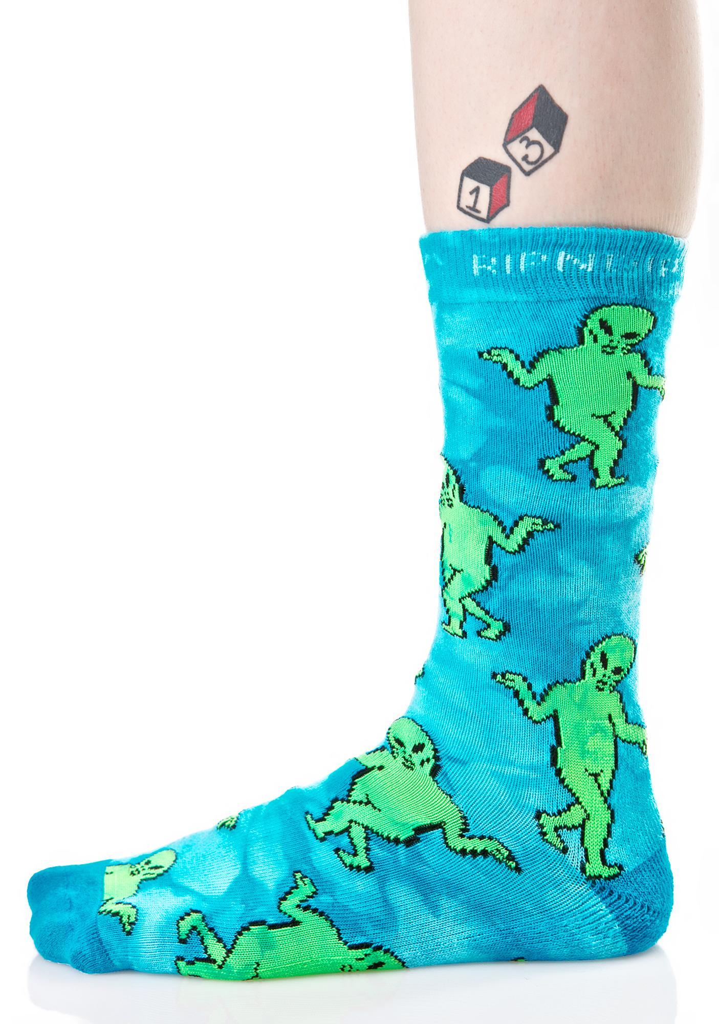 RIPNDIP Alien Dance Party Socks