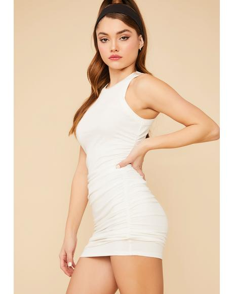 Keeping Score Ribbed Mini Dress