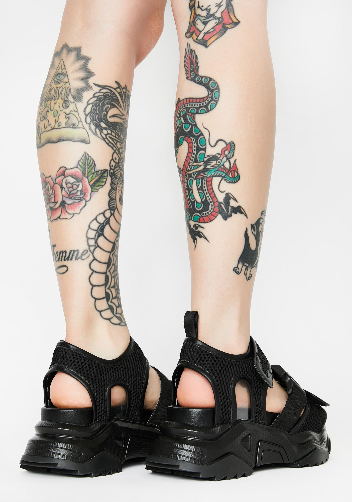 Poster Grl Dive Right In Platform Sandals