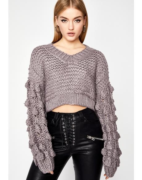 Power Puff Crop Sweater