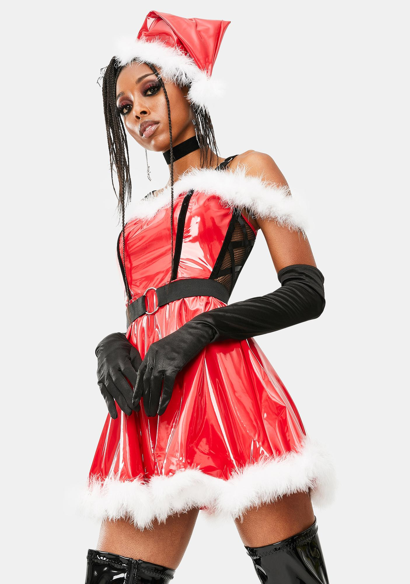 Pretty Lil Present Santa Costume