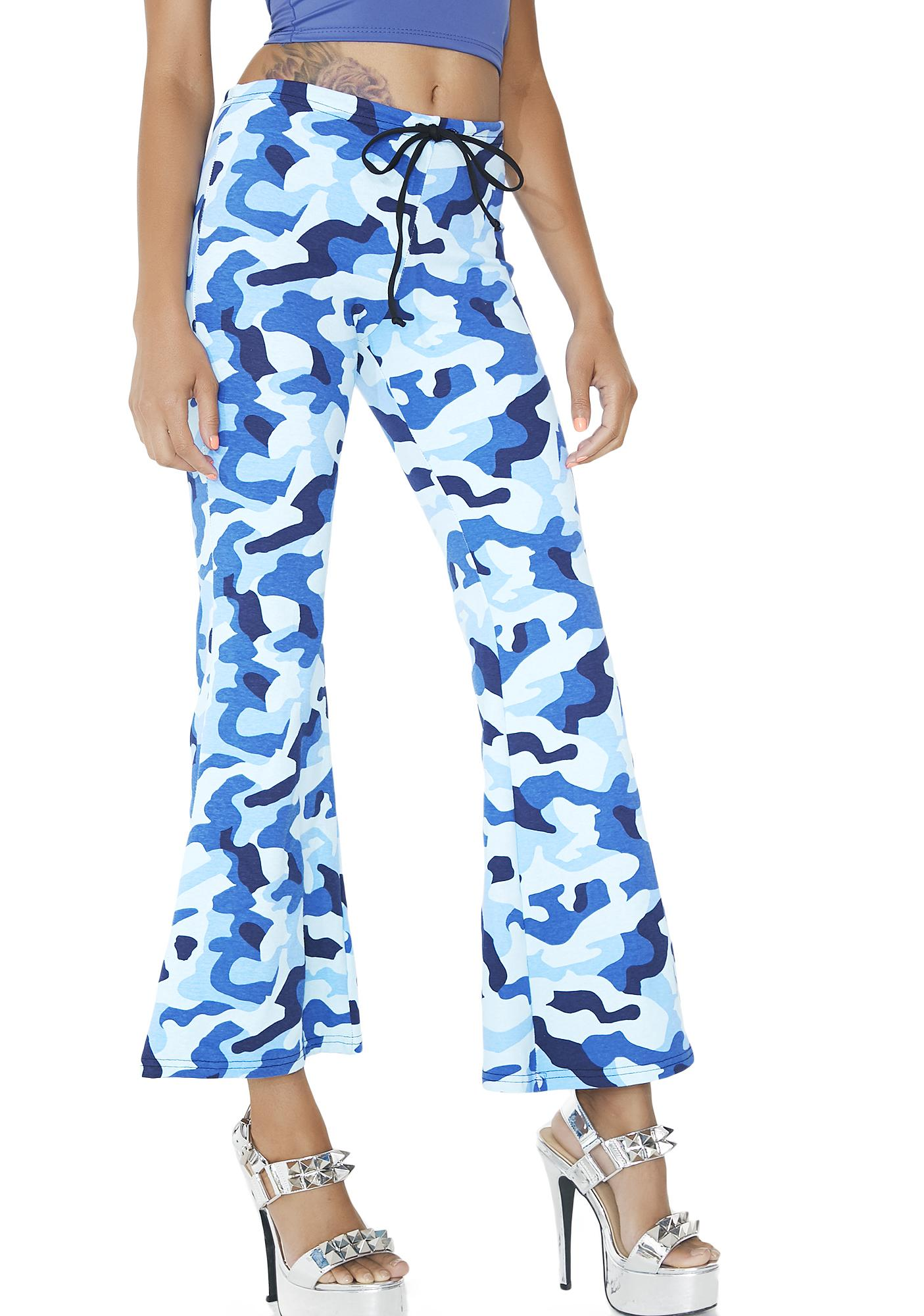 American Deadstock Off Duty Camo Flare Pants
