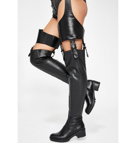 AZALEA WANG Flatloop Chap Boots