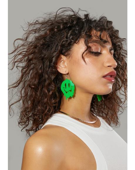 Make You Melt Smiley Face Earrings