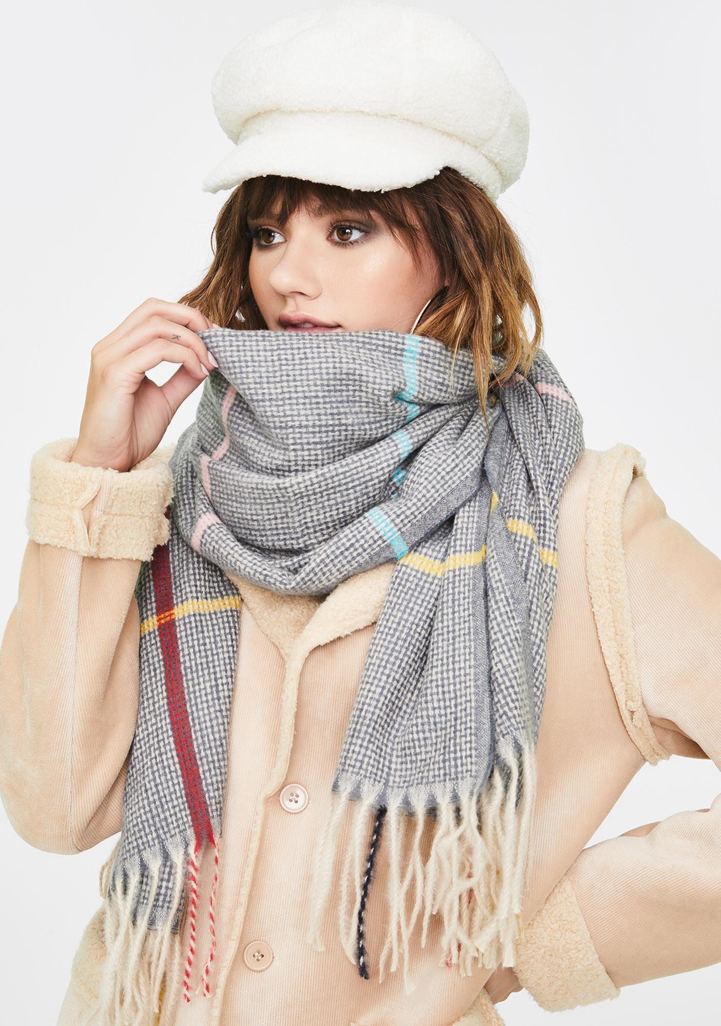 Precisely Right Plaid Scarf