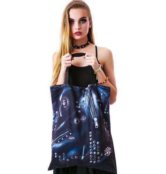Mona Lisa KISS Vest Reversible Tote Bag