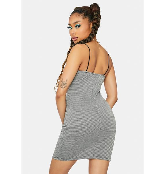 Tease 'Em Babe Houndstooth Bodycon Dress