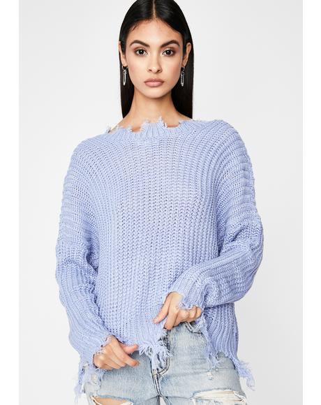 Hidden Signals Distressed Sweater