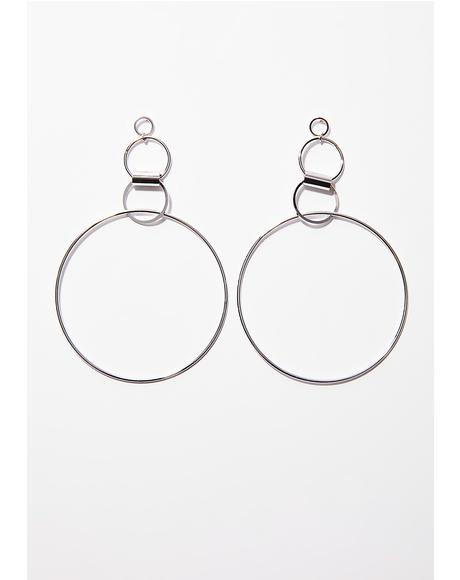Free Spirit Circle Earrings
