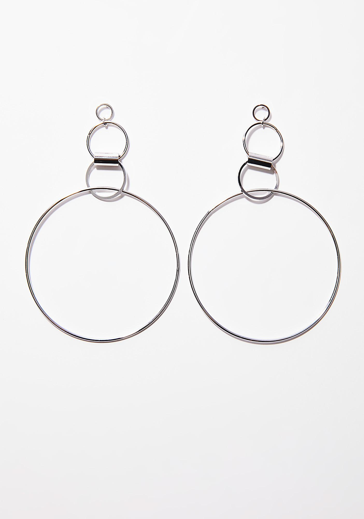 missguided gold earrings in metallic double gallery circle lyst jewelry designer