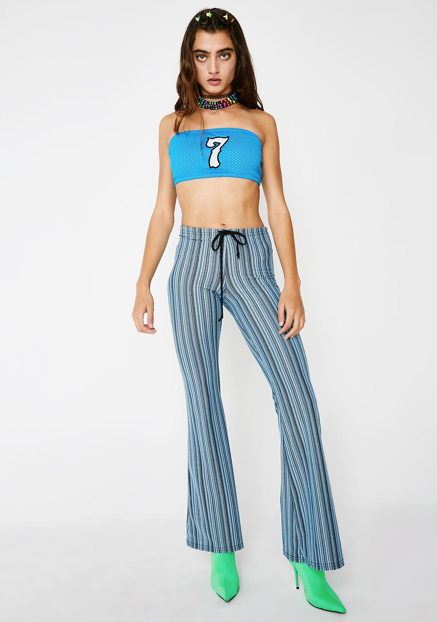 American Deadstock Sky Lucky 7 Tube Top