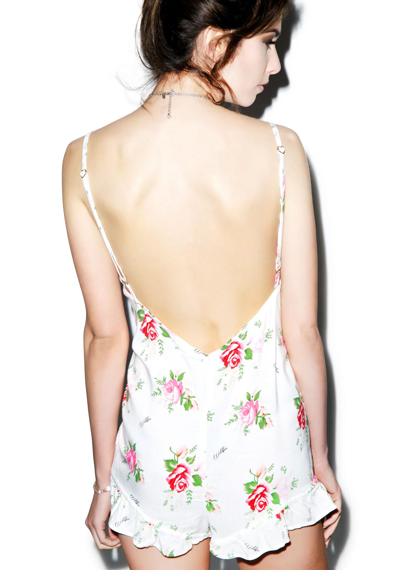Wildfox Couture Lover's Bouquet Pajama Romper