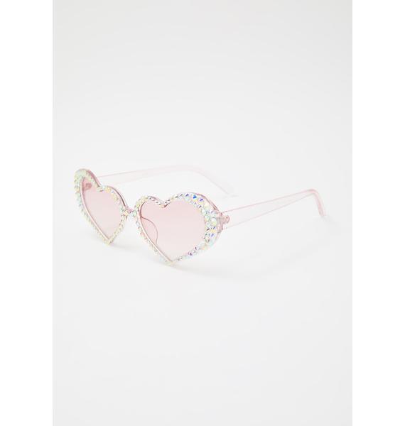 Pixie Shine Heart Sunglasses