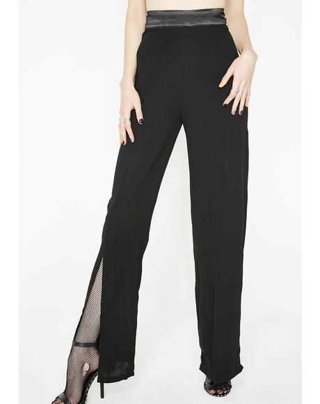 No Safety Front Slit Pants
