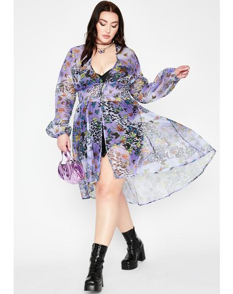 Fairy Her Fluttering Euphoria Sheer Duster